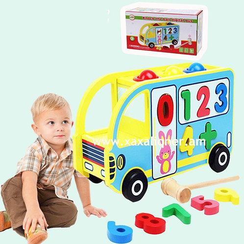 Փայտե զարգացնող և ուսուցանող ավտոբուս