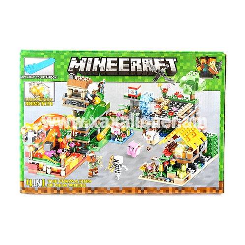 Կոնստրուկտոր Minecraft տնակներով