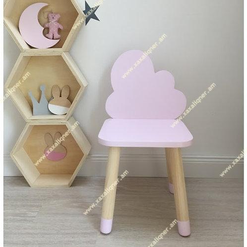 Մանկական փայտե աթոռ ամպիկ