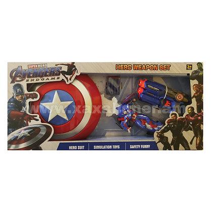 """3-ը 1-ում հավաքածու վահանով """"Captain America"""""""