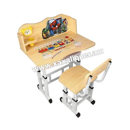 """Մանկական գրասեղան իր աթոռով """"Spiderman"""""""