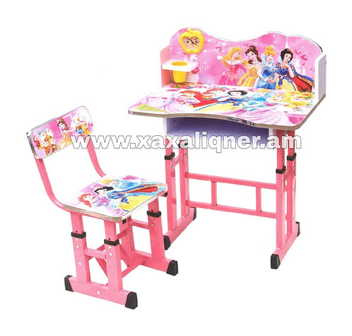 Մանկական գրասեղան իր աթոռով Disney Princess