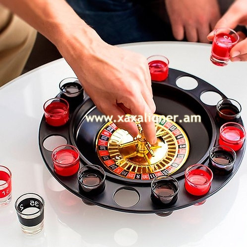 """Սեղանի ժամանցային խաղ ալկաշնոց """"drinking roulette set"""""""