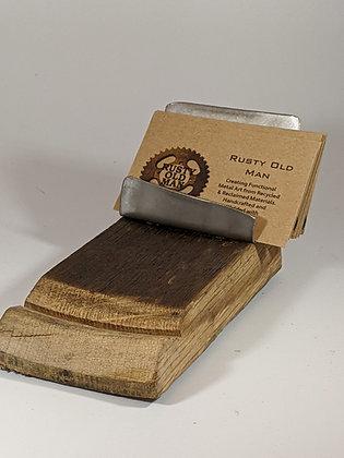 Barn wood business card holder