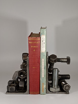 Nut and bolt bookends