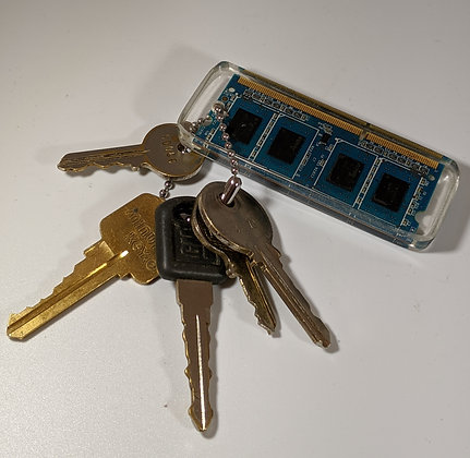 Blue Circuit Board Keychain