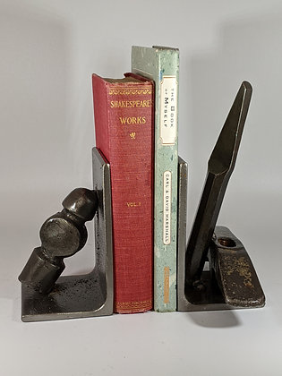 Hammer and chisel bookends