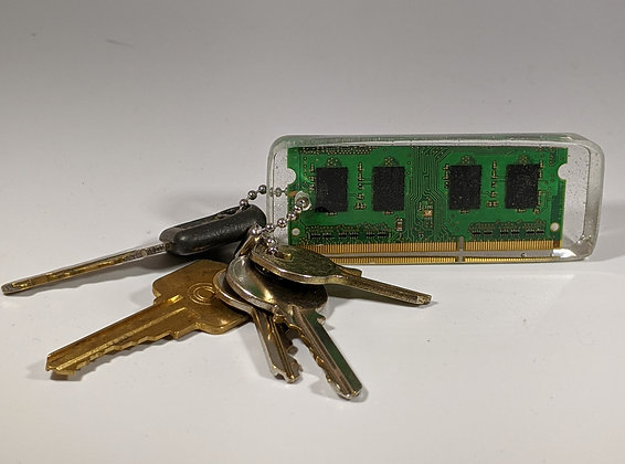 Green Circuit Board Keychain