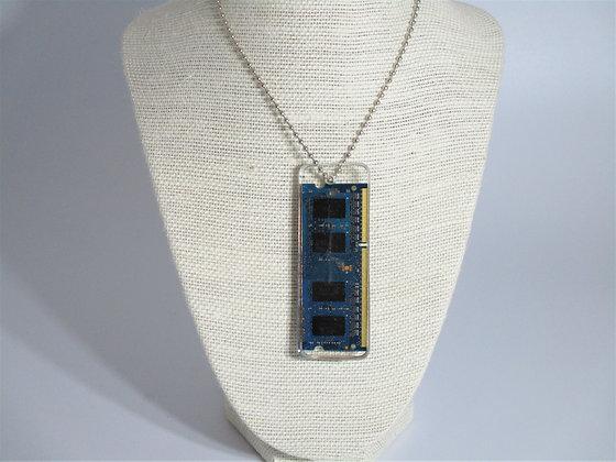 Blue Circuit board necklaces