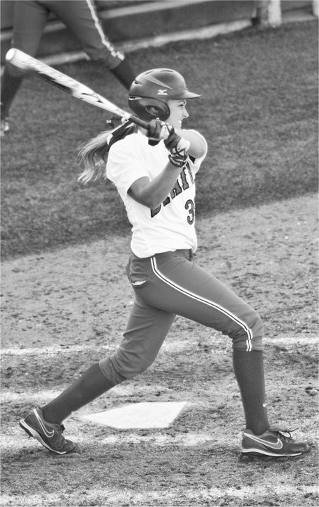 Sammy Jo Diffendaffer doubles against TAMU to put Cowgirls up by two.