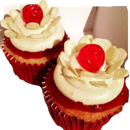 Bakewell Tart cupcakes (12)