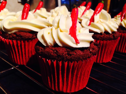 Chocolate Fire Cupcakes (12)