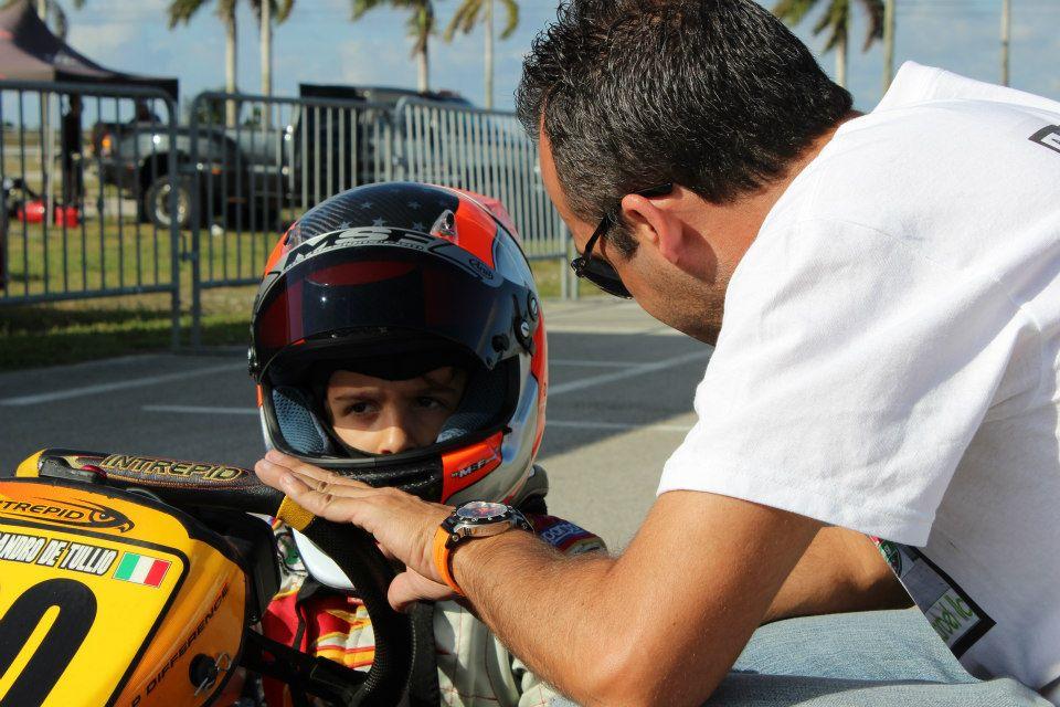 Alesso De Tullio with dad Santi