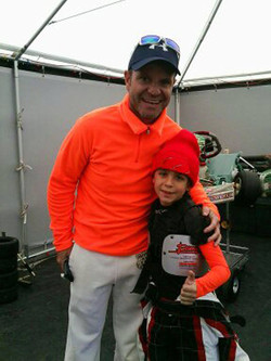 with Rubens Barrichello F1 driver