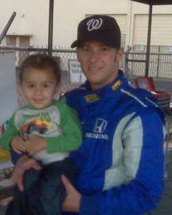 With Marco Andretti from Indy