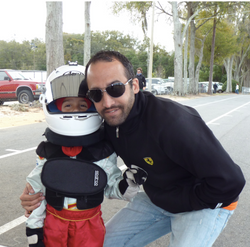 With dad Santiago De Tullio