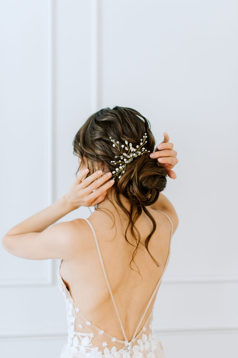 bridal hairstyle updo loose