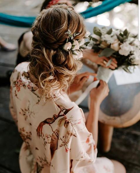 Loos natural bridal updo.