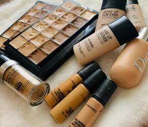 Face foundations: Graftobian HD, MakeU Forever, Dior, Mac