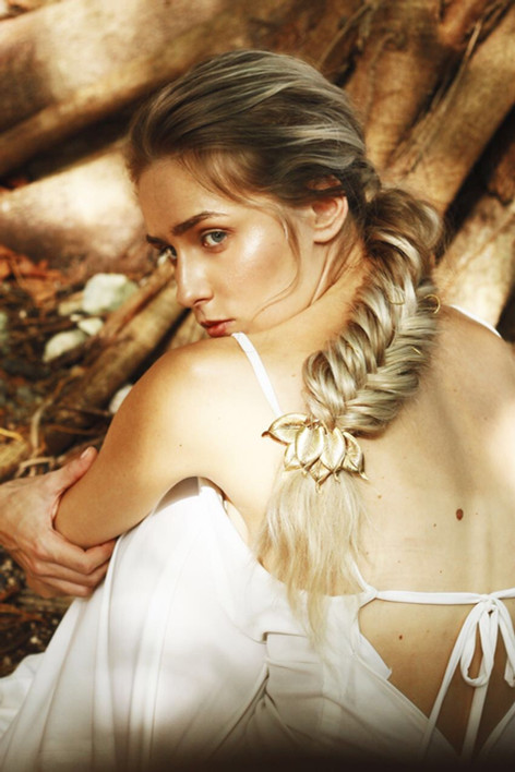 fishtail braid natural makeup