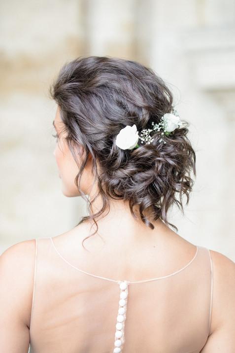loose bridal hairstyle Paris