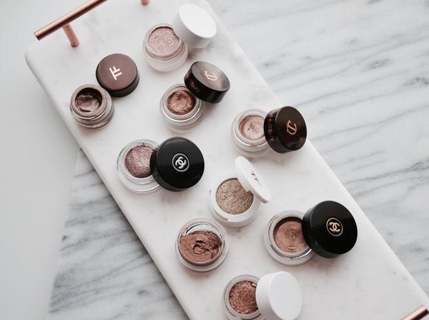 Cream eyeshadows: Chanel, Tom Ford, Charlotte Tilbury