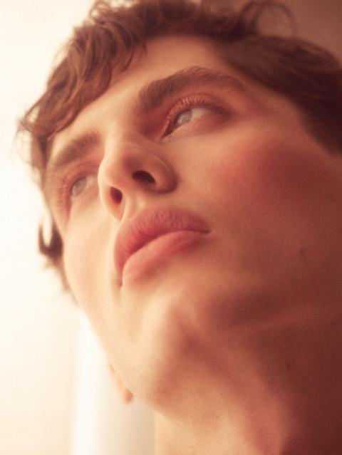 male model makeup fashion