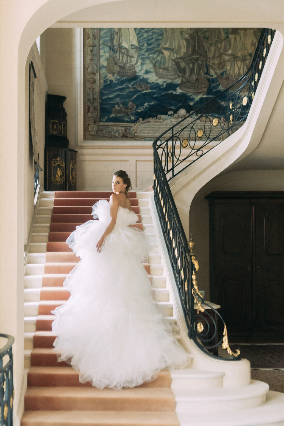 chateau wedding in france bridal makeup