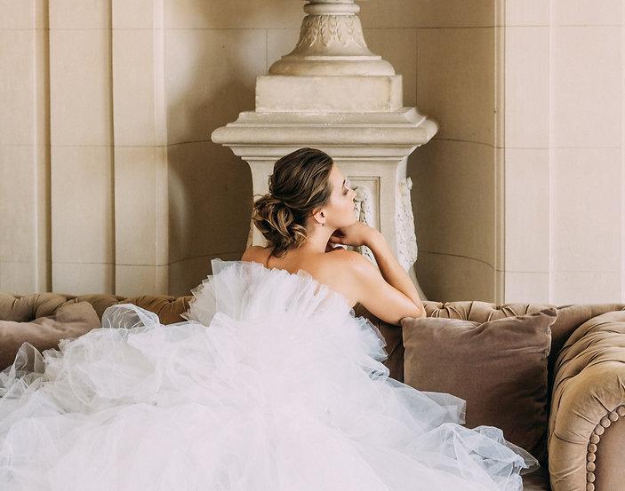 bride makeup hairstyle Paris fashion castle