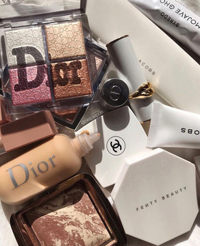 Dior, Chanell, Fenty Beuty, Hourglass.
