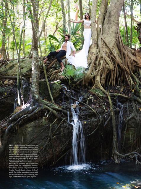 jungle editorial wedding shoot bride