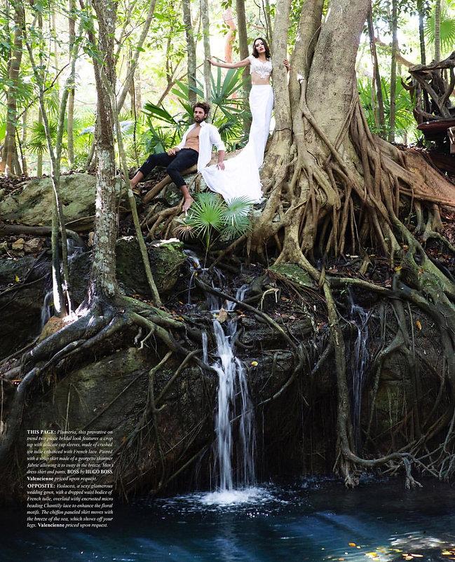 jungle destination bridal photoshoot