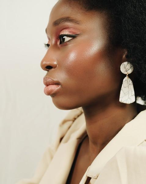 dark skin makeup editorial