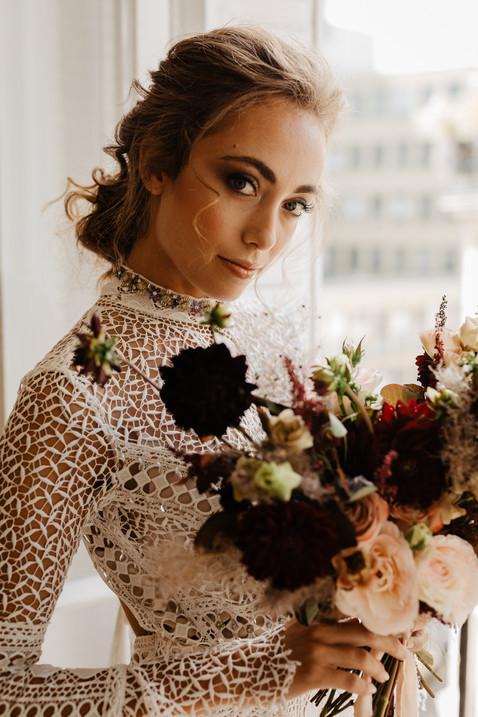 boho hairstyle bride Paris