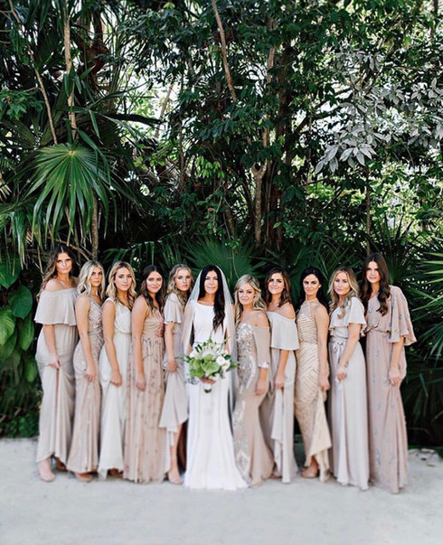 Bridal party. Bridal getting ready. Featured in Style Me Pretty.