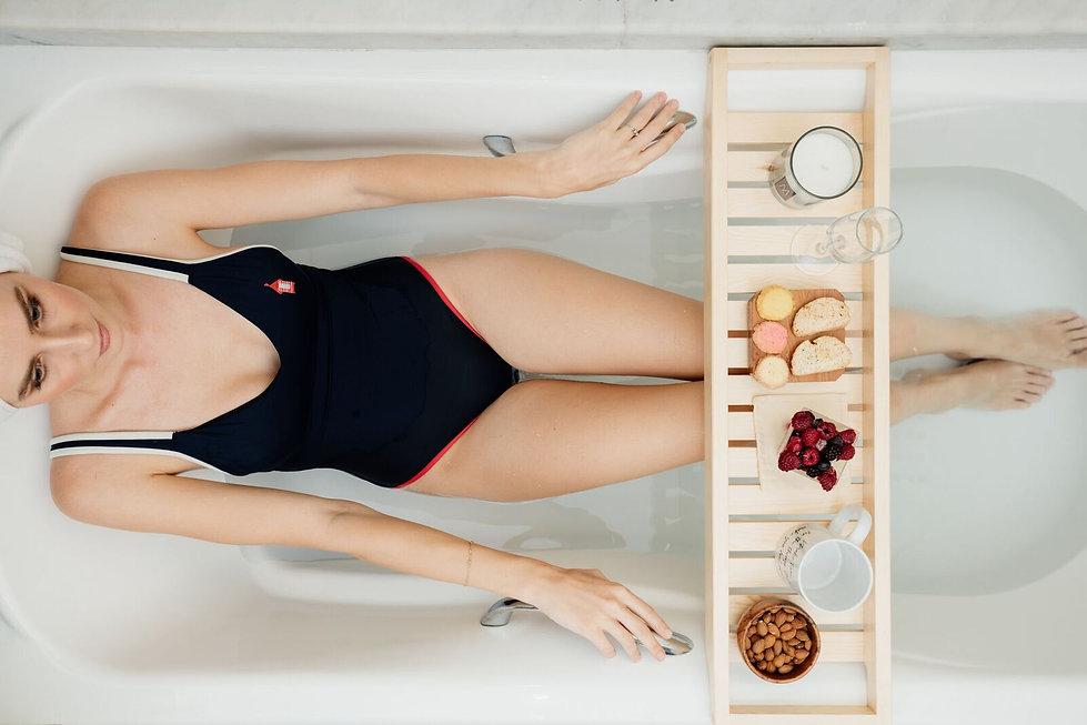 model in the bathtube editorial