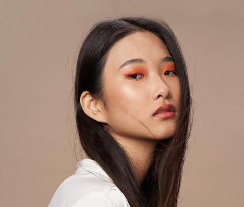 makeup asian model fashion
