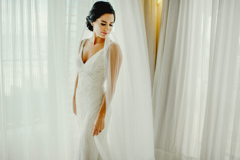 Elegant bridal look. Hair and makeup by Alesia Solo.