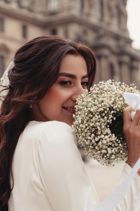 bride makeup hairstyle wedding