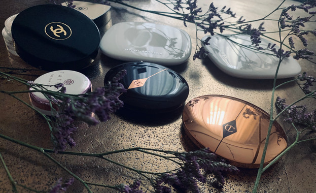 Face products: Charlotte Tilbury, Chanel. Marc Jacobs, Tatcha