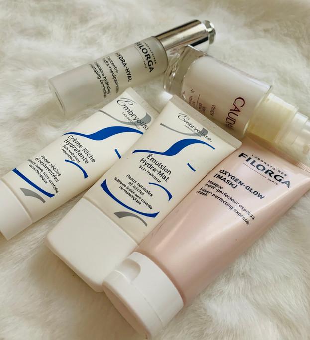 Skincare: Filorga, Embryolisse, Caudelie