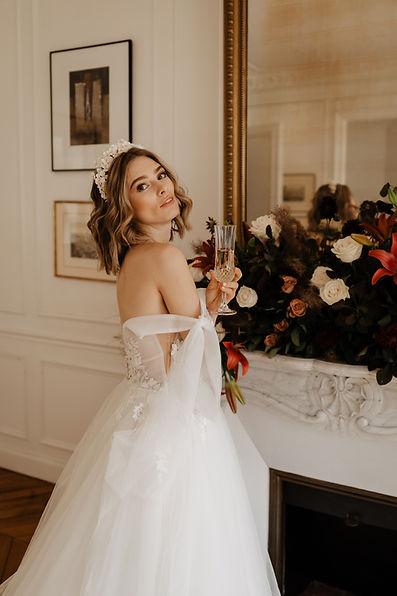 wedding, makeup artist, hairstylist, Paris, bride, dress