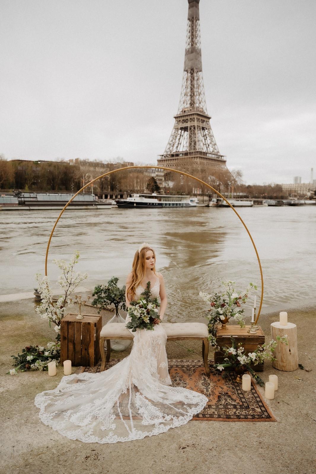 Bride photography paris eiffel tower