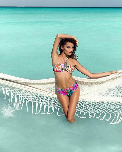 beach swimwear makeup artist