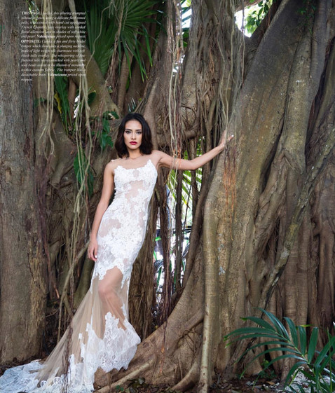 bridal gown makeup editorial