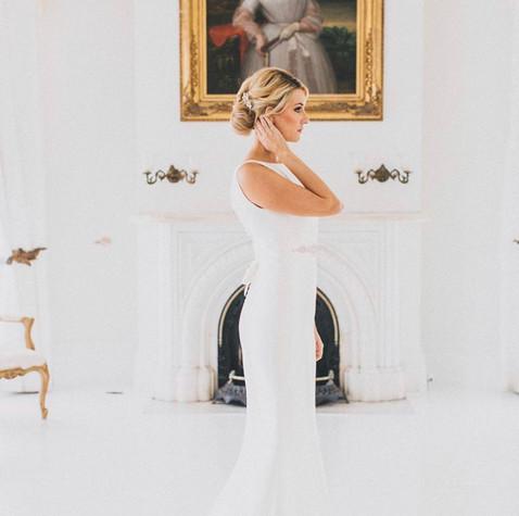 Elegant bridal look.