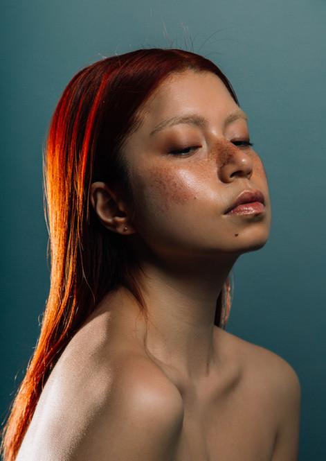 asian model makeup freckles