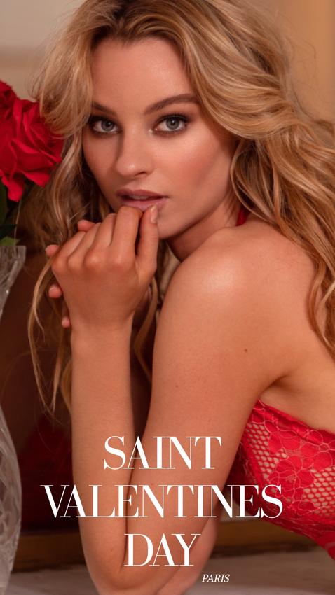 model lingerine red nude