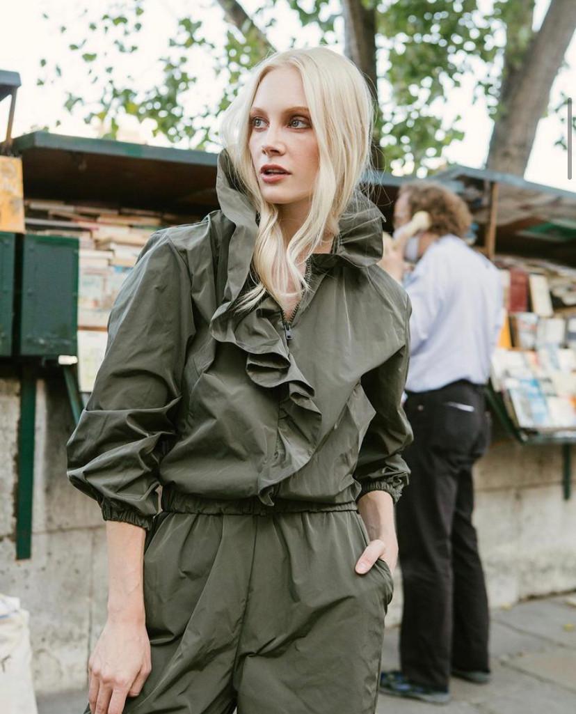 paris style fashion shoot model