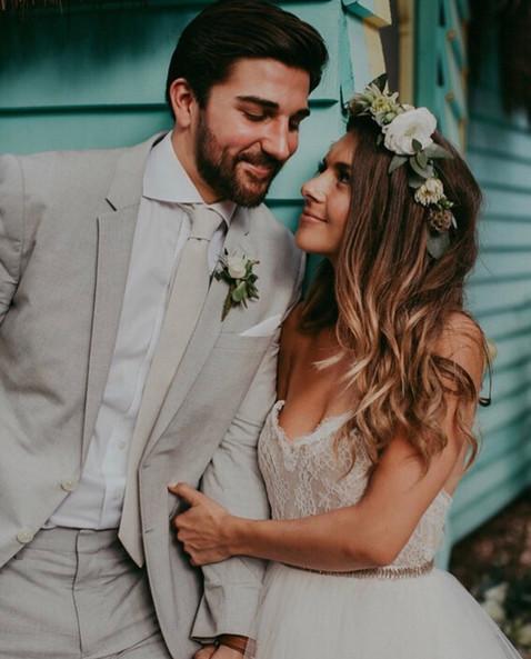 Beautiful natural bridal look.